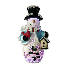 National Tree Company 11'' Snowman with LED wearing Blue Clothes