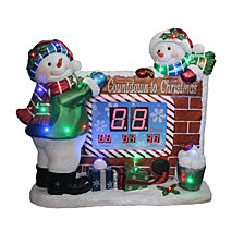 "National Tree Company 32"" Snowman Countdown to Christmas Clock withLED Lights & Music"