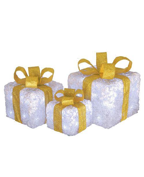 national tree company pre lit white gift box assortment all