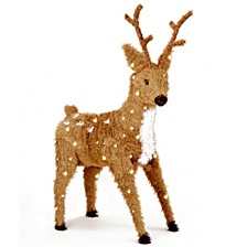 "National Tree 36"" Creative Images Brown Standing Reindeer with Spots and 150 Clear Lights"