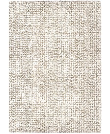 "Jennifer Adams  Cotton Tail Ditto White 3'11"" x 5'5"" Area Rug"
