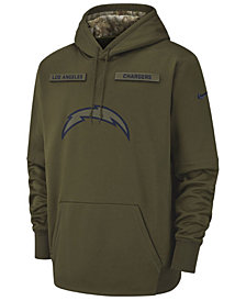 Nike Men's Los Angeles Chargers Salute To Service Therma Hoodie
