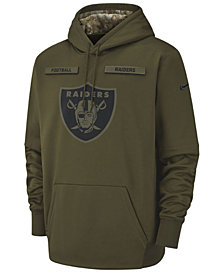 Nike Men's Oakland Raiders Salute To Service Therma Hoodie