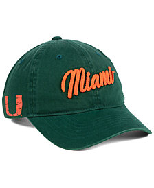 Zephyr Miami Hurricanes Scroll Adjustable Strapback Cap