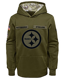 Nike Pittsburgh Steelers Salute To Service Therma Hoodie, Big Boys (8-20)