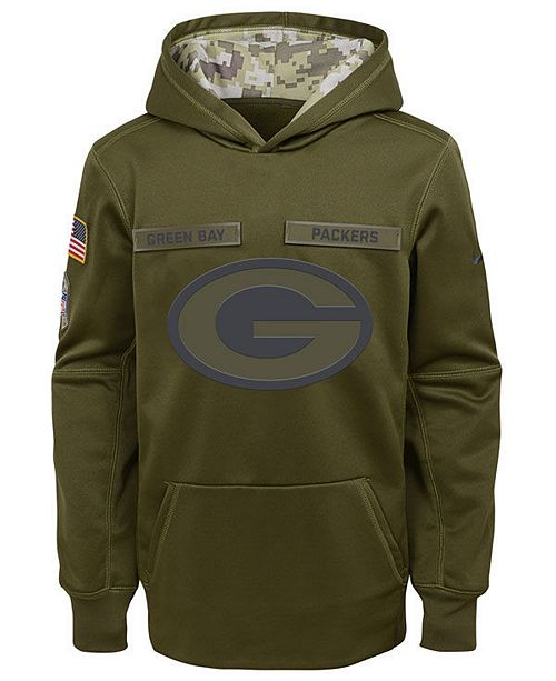 newest collection 6852a e1157 Nike Green Bay Packers Salute To Service Therma Hoodie ...