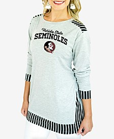 Women's Florida State Seminoles Striped Panel Long Sleeve T-Shirt