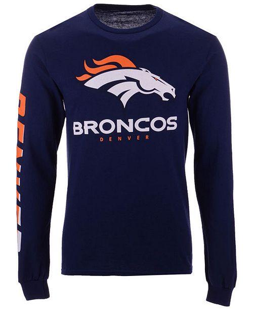 97ca91e19 ... Authentic NFL Apparel Men s Denver Broncos Streak Route Long Sleeve T- Shirt ...
