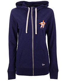 New Era Houston Astros Triblend Fleece Full-Zip Sweatshirt