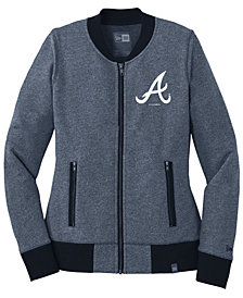 New Era Women's Atlanta Braves French Terry Full-Zip Jacket