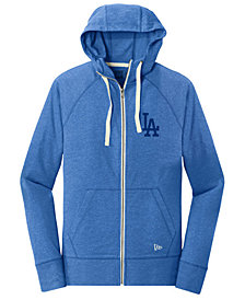 New Era Los Angeles Dodgers Triblend Fleece Full-Zip Sweatshirt