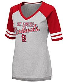 Women's St. Louis Cardinals Goal Line Raglan T-Shirt