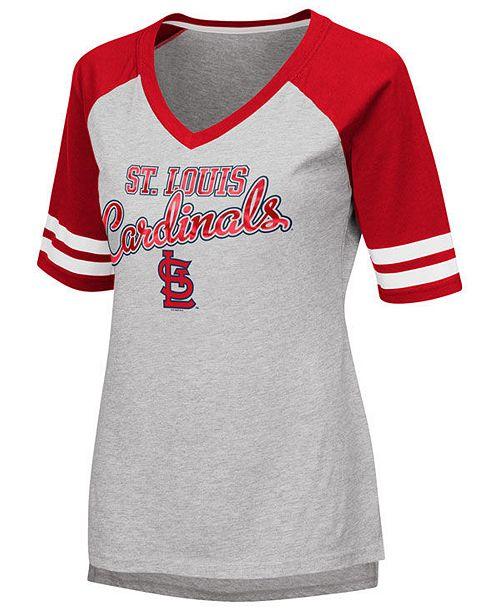 G-III Sports Women's St. Louis Cardinals Goal Line Raglan T-Shirt