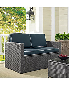 Palm Harbor Outdoor Loveseat In Wicker With Cushions