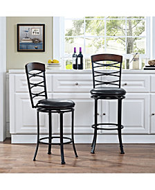 Highland Swivel Counter Stool With Cushion
