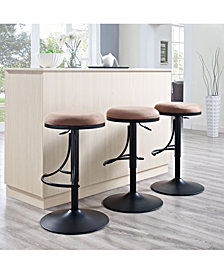 Jasper Backless Swivel Counter Stool With Cushion