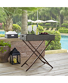 Palm Harbor Outdoor Wicker Butler Tray