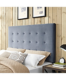 Reston Square Upholstered Full And Queen Headboard In Microfiber