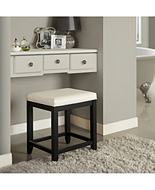 Vista Vanity Stool With Vinyl