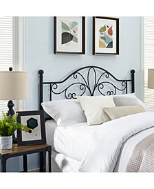 Evelyn King Metal Headboard