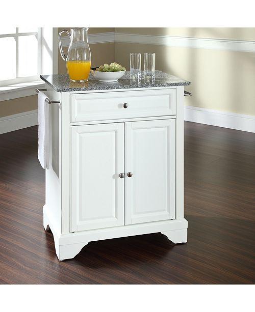 Crosley Lafayette Solid Granite Top Portable Kitchen Island