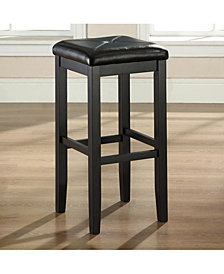 """Upholstered Square Seat Bar Stool With 29"""" Seat Height (Set Of 2)"""