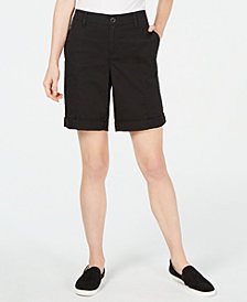 Style & Co Cuffed Seam-Detailed Shorts, Created for Macy's