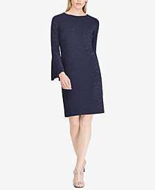 Lauren Ralph Lauren Metallic Ponté-Knit Shift Dress
