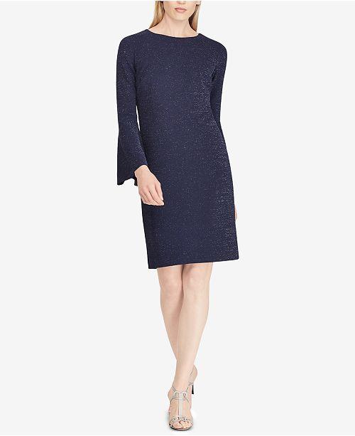 Lauren Ralph Lauren Metallic Ponté-Knit Shift Dress