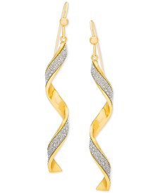Giani Bernini Glitter Twist Drop Earrings, Created for Macy's