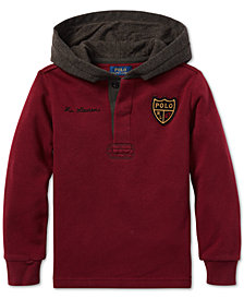 Polo Ralph Lauren Toddler Boys Fleece Rugby Hoodie