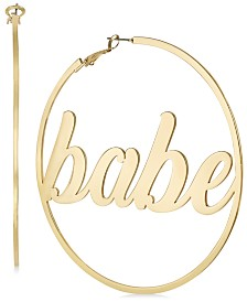 Thalia Sodi Gold-Tone Babe Extra Large Hoop Earrings, Created for Macy's