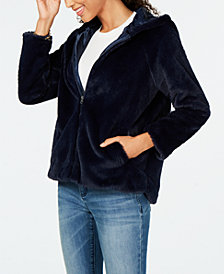 Style & Co Zip-Front Hooded Faux-Fur Jacket, Created for Macy's