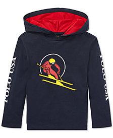 Polo Ralph Lauren Little Boys Downhill Skier Graphic Cotton Hoodie