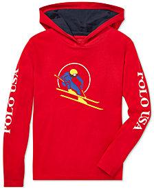 Polo Ralph Lauren Big Boys Downhill Skier Graphic Cotton Hoodie