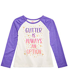 Epic Threads Little Girls Glitter Long-Sleeve T-Shirt, Created for Macy's