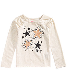 Epic Threads Toddler Girls Long-Sleeve Stars T-Shirt, Created for Macy's