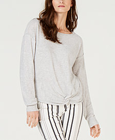 I.N.C. Petite Twist Front Pullover Sweater, Created for Macy's