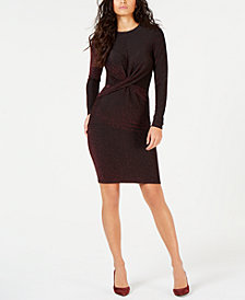 MICHAEL Michael Kors Knotted Metallic Dress