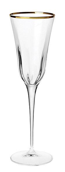 Vietri Optical Gold Champagne Flute