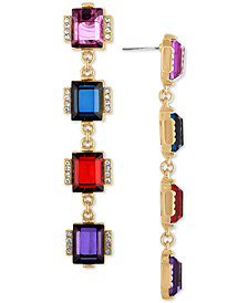 RACHEL Rachel Roy Gold-Tone Crystal Linear Drop Earrings
