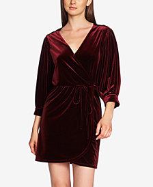 1.STATE Velvet Wrap Dress