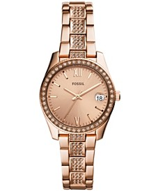 Fossil Women's Scarlette Rose Gold-Tone Stainless Steel Bracelet Watch 28mm