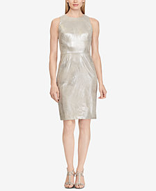 Lauren Ralph Lauren Petite Metallic Faux-Suede Dress, Created for Macy's