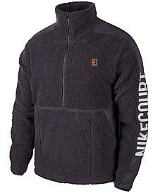 Nike Men's Court Bushed-Fleece Half-Zip Sweatshirt