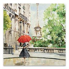 Paris Walk Hand Embellished Canvas