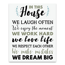 In This House Printed Canvas