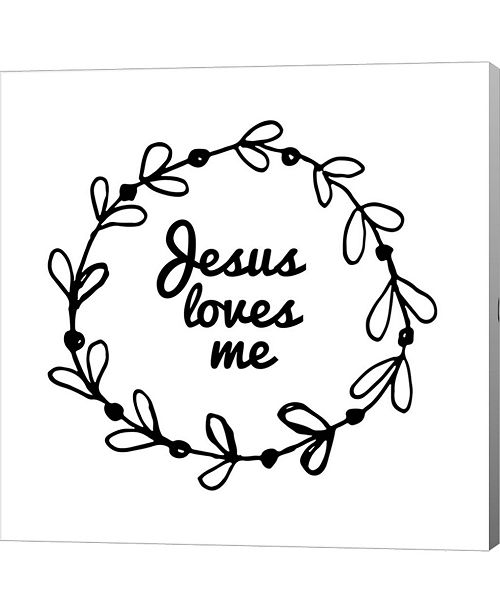Metaverse Jesus Loves Me Wh By Inspire Me Canvas Art