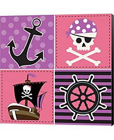 Ahoy Pirate Girl II By Nd Art & Design Canvas Art