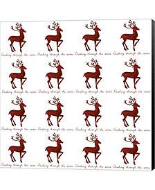 Reindeer Wrap by Erin Clark Canvas Art